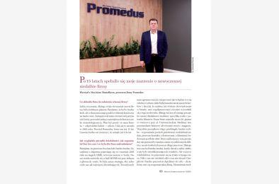 Wywiad na 15 lecie firmy Promedus w Magazynie Stomatologicznym